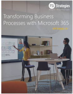 Transforming Business Processess with Microsoft 365 WhitePaper cover